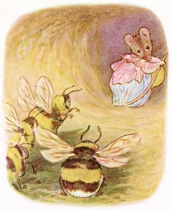 Beatrix Potter's illustration of Babbity Bumble in The Tale of Mrs Tittlemouse, 1910